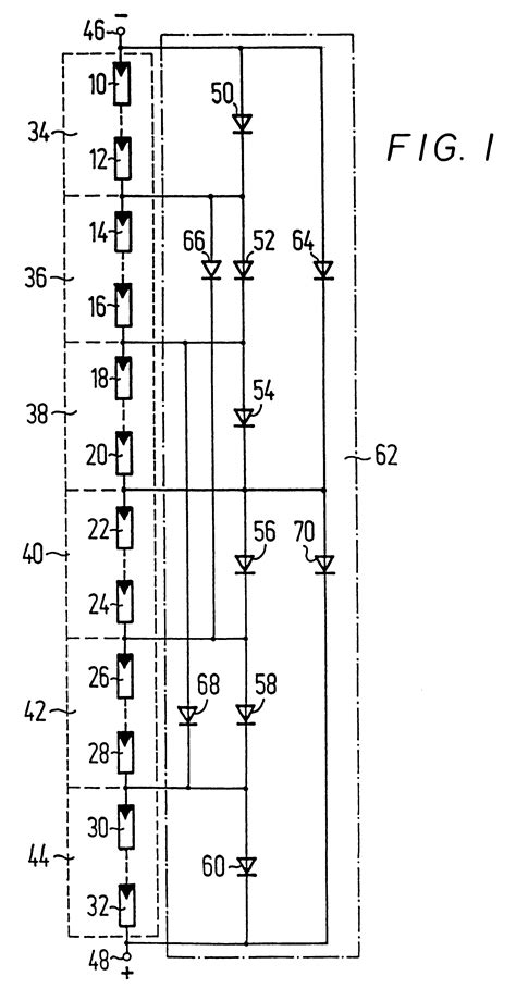 diode circuits in parallel patent us6225793 solar power generation circuit including bypass diodes connected in parallel