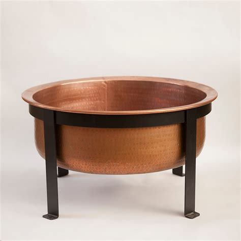 Copper Firepits Handcrafted Copper Pit Grill Table The Green