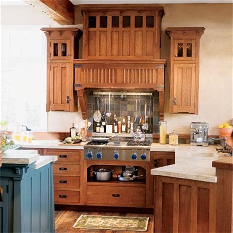 arts and crafts style kitchen cabinets see how you can combine cabinets in quarter sawn oak with