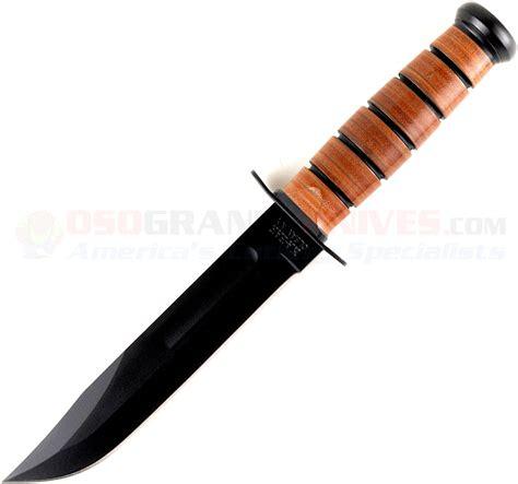 ka bar usmc fighting knife kabar 1217 usmc fighting utility knife plainedge leather