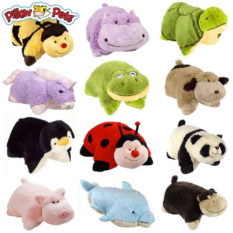 plush pillows set of 4 pillow pets wees stuffed animal plush