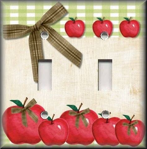 light switch plate cover country kitchen apples home