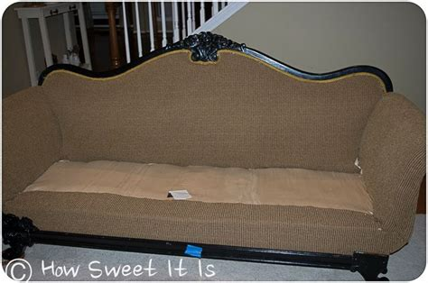reupholster vintage sofa how to reupholster a vintage sofa handywoman