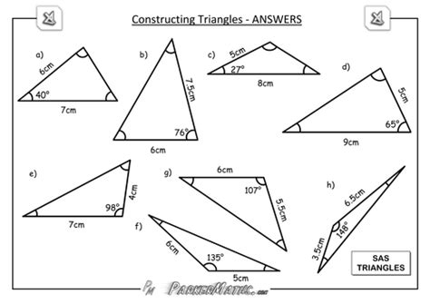 construct a triangle constructing triangles by parkermaths uk teaching