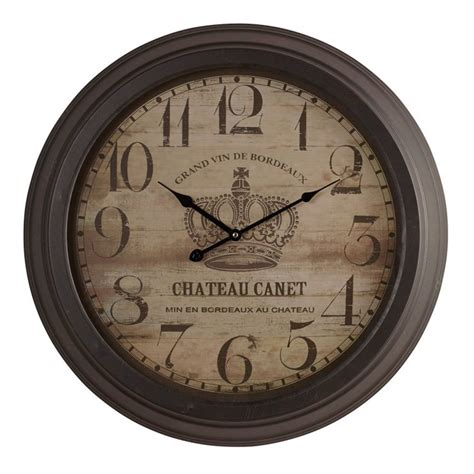 Oak Furniture Land Clocks by Canet Wall Clock By Oak Furniture Land