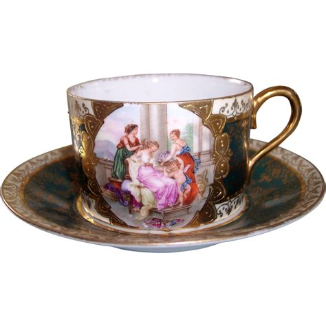 Vienna Bowl Set Dusdusan vienna style cherub maidens cup saucer beehive from modseller on ruby