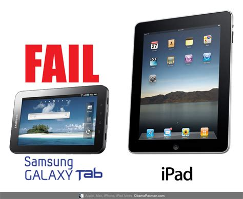 Tablet Samsung Vs fail vs android tablet samsung galaxy tab obama pacman