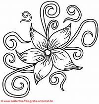 Flower Tattoo Kostenlose Blumen Blueten Vorlagejpg