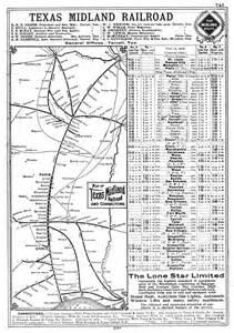 midland railroad company tex timetable