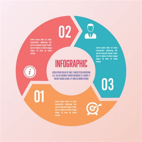 3 Sections In 3 Years by Circular Infographics With Three Sections Vector Free