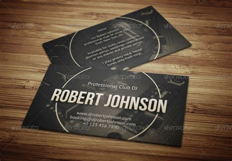 templates for dj business cards 32 dj business card templates free download creative