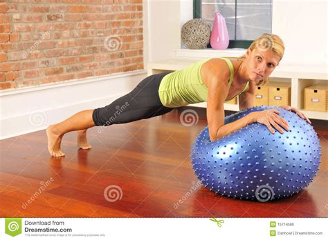 pilates exercise with at home royalty free stock