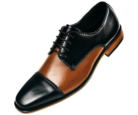 Dress Shoe And by Amali Mens And Black Smooth Two Tone Oxford Dress Shoe Style Palmero 028 Ebay