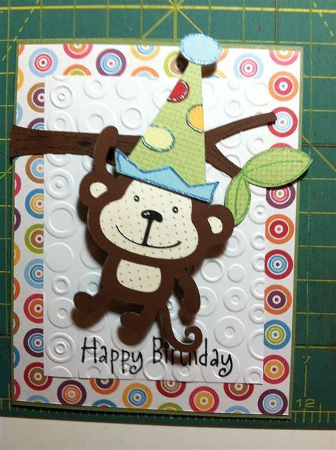 Monkey Birthday Cards Free Monkey Birthday Card Look What I Made Pinterest