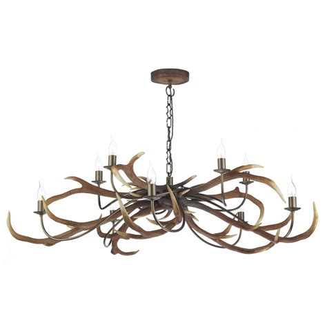 stag antler ceiling pendant light rustic pendants for