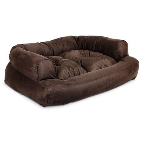 snoozer luxury overstuffed sofa in fudge petco