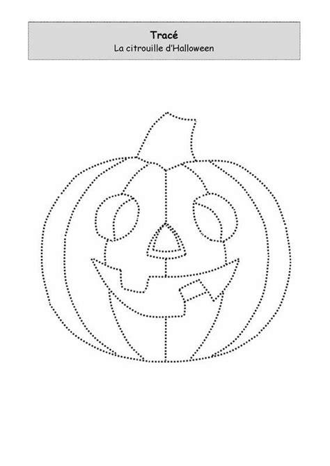 La citrouille d'Halloween à tracer