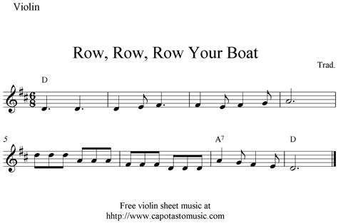 row row your boat farmees row row row your boat free easy violin sheet music notes