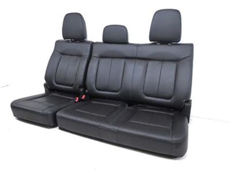 oem ford truck replacement seats replacement ford f150 oem black leather rear seat crew cab