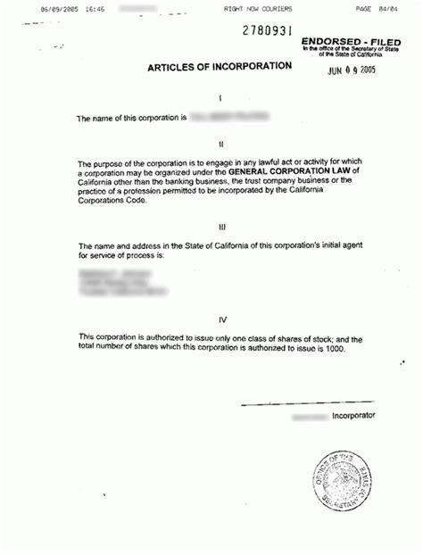 california incorporation registered agent incparadise