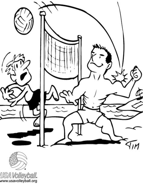 cartoon volleyball coloring page cartoon volleyball pictures many interesting cliparts