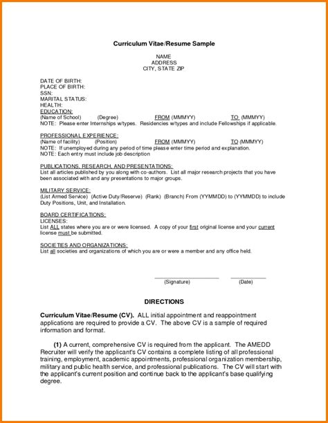 how bio data form filled resume template example