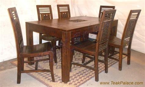 Meja Makan 6 Orang jepara kursi makan meja makan set minimalis ukir jati 6