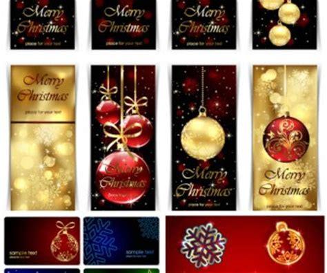 desain grafis natal gratis ornament kartu natal vektor