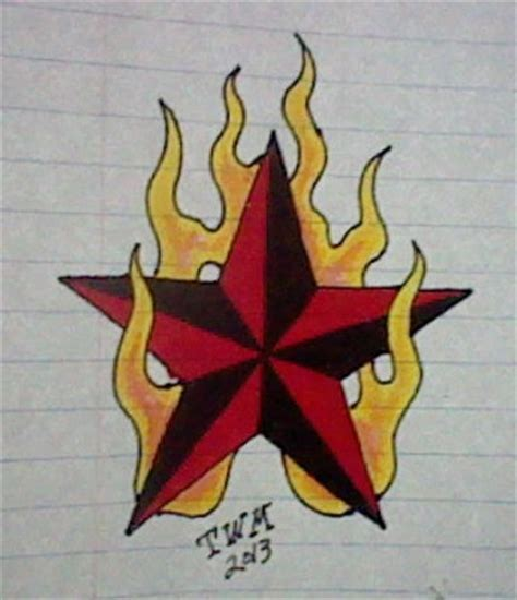 flaming nautical star by mourn777 on deviantart