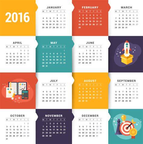 creative calendar template creative calendar 2016 template vector 01 vector