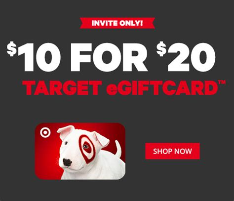 Facebook Gift Card Sale - 20 target gift card on sale only 10