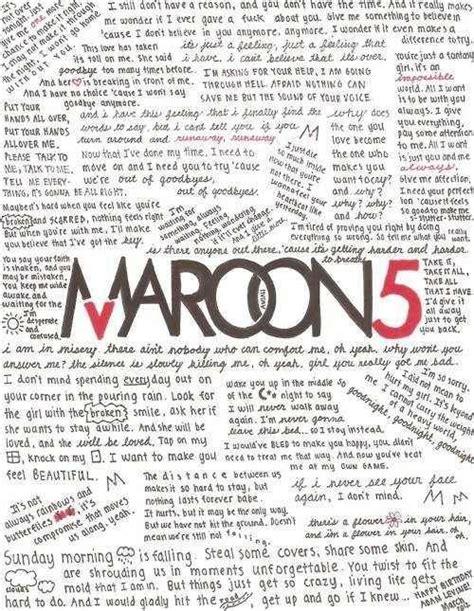 maroon 5 1990s songs 1000 images about maroon 5 lyrics on pinterest