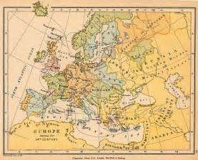 14th Century Middle Ages Europe Map by Map Of Europe During The 14th Century