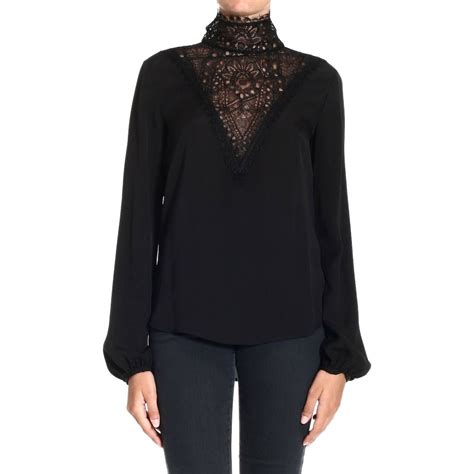 Dress Turtle V Neck lyst emilio pucci top turtleneck silk with v neck lace