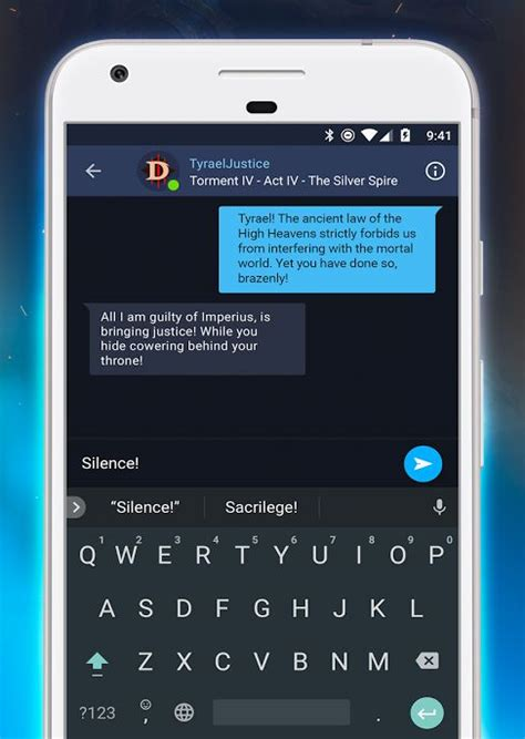 There?s now a Battle.net phone app that lets you chat with