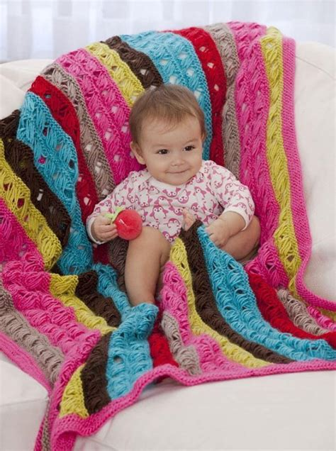 Modern Baby Blanket Knitting Patterns by Modern Lovey Baby Afghan Favecrafts
