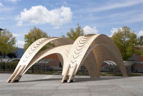 Moorish Design by Students Bent Plywood Pavilion Eth