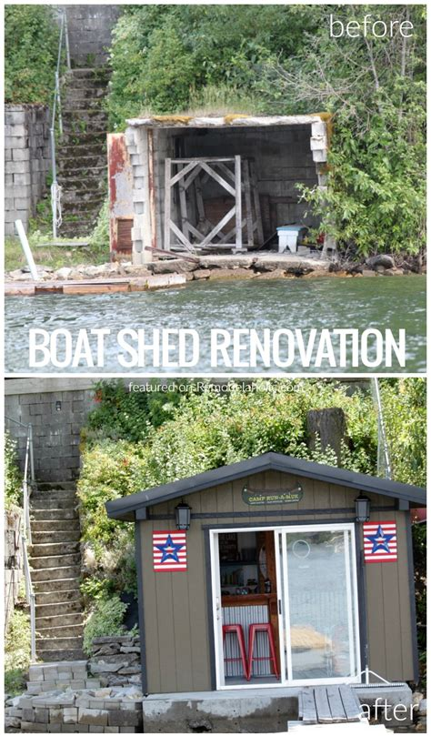 before and after boat shed renovation into bar