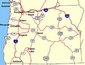 oregon highways map road maps of oregon