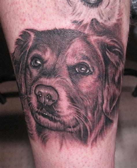 tattoo animal portraits dog portrait tattoo by bob tyrrell tattoos