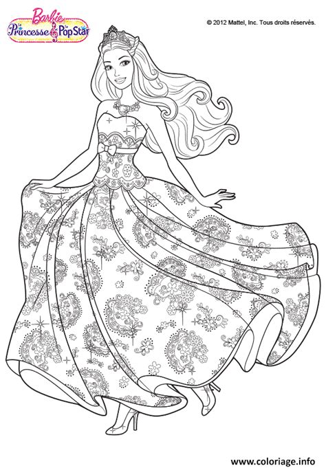 Coloriage Princesse Barbie Jecolorie Com Livre Coloriage Princesses DisneyL