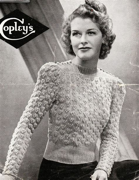 free vintage knitting patterns free vintage knitting patterns 1940s crochet and knit