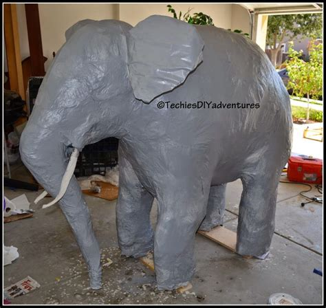 Make Paper Elephant - techie s diy adventures tutorial on how to make paper