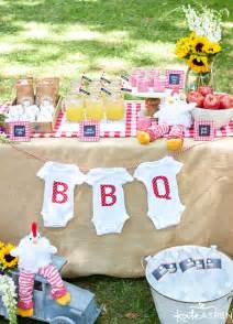 Backyard Baby Q Ideas How To Throw A Relaxed Co Ed Baby Q Kate Aspen