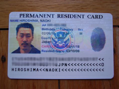 resident green card template permanent resident card a photo on flickriver