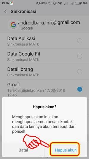 log  gmail  android keluar  hapus akun google
