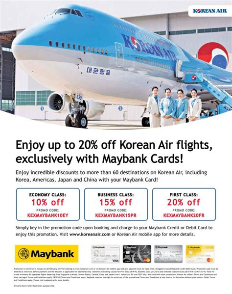 enjoy up to 20 korean air flights to 60 destinations with maybank cards great deals