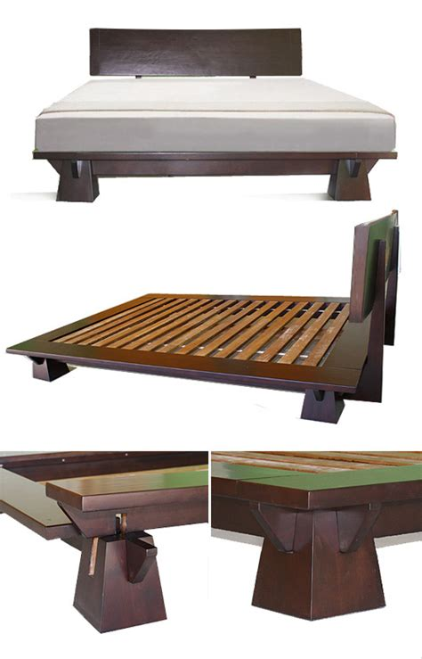 Japanese Bed Frame Plans Platform Beds Low Platform Beds Japanese Solid Wood Bed Frame