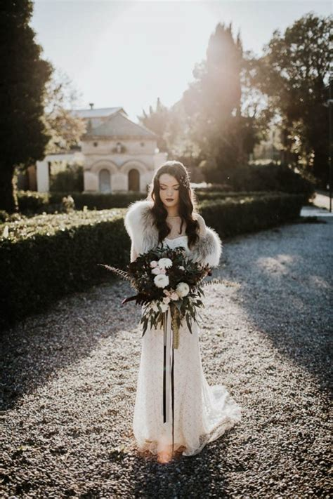 Would You Wear A Wedding Dress That Isnt White by 30 Edgy Moody Winter Wedding Ideas Weddingomania
