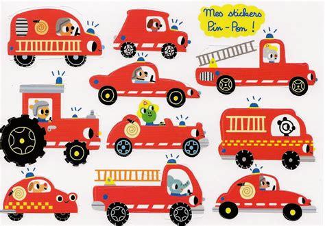 Aufkleber Feuerwehr Kinder by Feuerwehrfahrzeuge Stickerkarte Im Kinderpostershop Kaufen